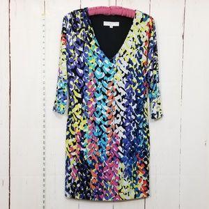 TRINA TURK multicolor longsleeve dress size 2